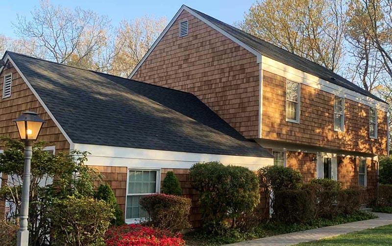 Cedar shake roofs and siding on Long Island