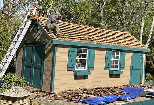 Cedar siding and cedar roofing project