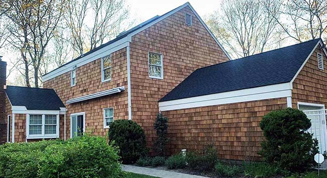 Cedar siding and roofing project