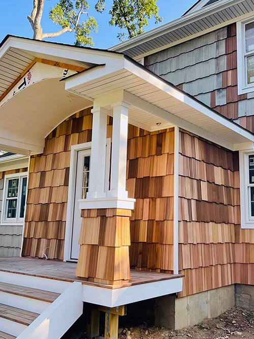 Repaired Cedar front and side